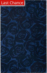 Jaipur Living Gramercy By Kate Spade New York Contrast Rose Garden Gkn14 Navy Area Rug