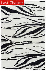 Jaipur Living Gramercy By Kate Spade New York Tiger Stripe Gkn62 Light Cream - Black Area Rug