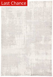 Rugstudio Sample Sale 196452R Light Gray - White Area Rug