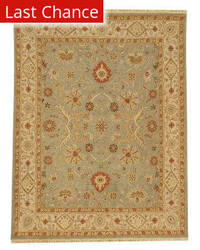 Rugstudio Sample Sale 53419RR Sea Green/Dark Ivory Outlet Area Rug