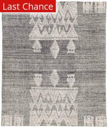 Rugstudio Sample Sale 186089R Black - Ivory Area Rug