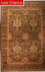 J. Aziz Shah Abbas FLORAL Black / Gold Area Rug