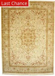 J. Aziz Haj Jalili V-1685 Ivory / Gold Area Rug