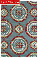 Rugstudio Sample Sale 112842R Teal Area Rug