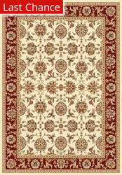 Rugstudio Sample Sale 54763R Ivory/Red Area Rug