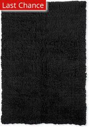 Linon New Flokati 1400 Grams Black Area Rug