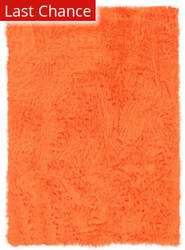 Linon Faux Sheepskin 71249 Orange Area Rug