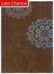 Rugstudio Sample Sale 71456R Chocolate / Blue Area Rug