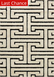 Rugstudio Sample Sale 158153R White - Black Area Rug