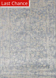 Rugstudio Sample Sale 141155R Light Blue - Ivory Area Rug