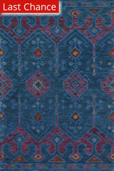 Rugstudio Sample Sale 163012R Blue - Plum Area Rug
