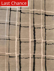 Rugstudio Sample Sale 54054R Silver - Black Area Rug