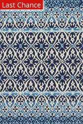Rugstudio Sample Sale 181671R Blue - Ivory Area Rug