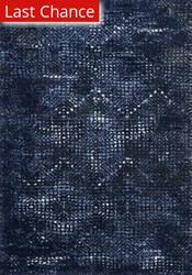 Rugstudio Sample Sale 192407R Dark Blue - Light Blue Area Rug