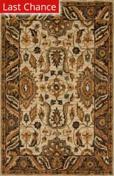 Rugstudio Sample Sale 158179R Ivory - Dark Taupe Area Rug