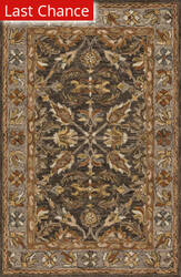 Rugstudio Sample Sale 158183R Dark Taupe - Grey Area Rug