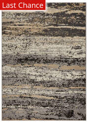 Lr Resources Infinity 81313 Gray - Black Area Rug