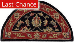 Rugstudio Sample Sale 179554R Black - Red Area Rug