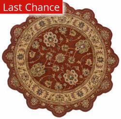 Rugstudio Sample Sale 179561R Rust - Gold Area Rug