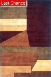 Rugstudio Sample Sale 161512R Wine Area Rug