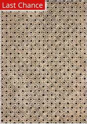 Rugstudio Sample Sale 186962R Black - Beige Area Rug
