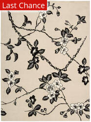 Rugstudio Sample Sale 25316R Black-Ivory Area Rug