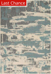 Rugstudio Sample Sale 192180R Cream - Aqua Area Rug