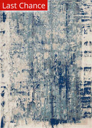 Rugstudio Sample Sale 192195R Ivory Blue Area Rug