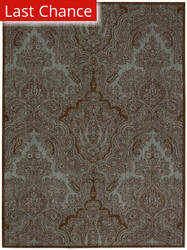 Rugstudio Sample Sale 72136R Teal Chocolate Area Rug