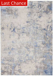 Rugstudio Sample Sale 205609R Blue - Ivory Area Rug