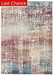 Rugstudio Sample Sale 204638R Ivory - Multicolor Area Rug