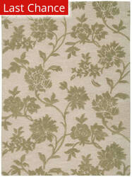 Rugstudio Sample Sale 32693R Ivory-Green Area Rug