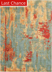 Rugstudio Sample Sale 200163R Teal - Multicolor Area Rug