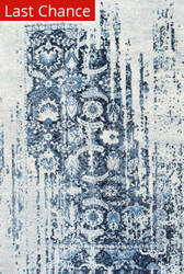 Nuloom Distressed Ernestina Flourish Blue Area Rug