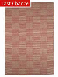 ORG Natural Weaves Jp-72 Plaid Coral Area Rug