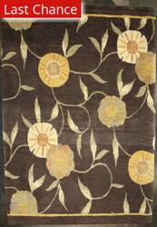 ORG Premium Tibetan Poppy Brown Area Rug