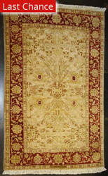 ORG Peshawar 354b Gold - Red Area Rug