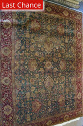 ORG Antiqued Jaipur Mmw-102 Green - Red Area Rug