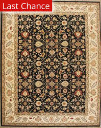 ORG Indo-Persian 908 Black-Beige Area Rug