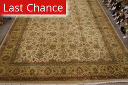 Org Antiqued Jaipur Jv-36 Gold Area Rug