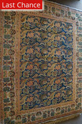 ORG Antique Repro Floral Blue - Rust Area Rug