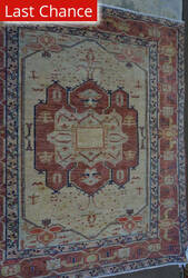 ORG Antique Repro Floral Ivory - Coral Area Rug
