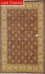 ORG Peshawar Ult-110 Brown And Beige Area Rug