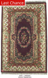 ORG Destin Aubusson Burgundy Area Rug