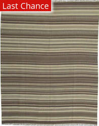 ORG Dhurrie Flatweave D-027 Medium Brown Area Rug