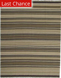 ORG Dhurrie Flatweave D-028 Dark Brown Area Rug