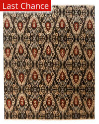 ORG Ginza Ikat-101 Black - Red Area Rug