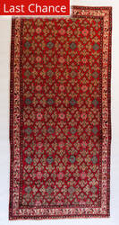 ORG Malayer Floral Red Area Rug