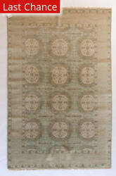 ORG Varuna D-76 Light Blue Gold Area Rug