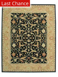 ORG Peshawar Tufted D-93 Black-Brown Area Rug